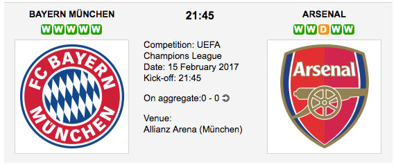 FC Bayern Munich vs Arsenal FC - UEFA Champions League betting preview and tips
