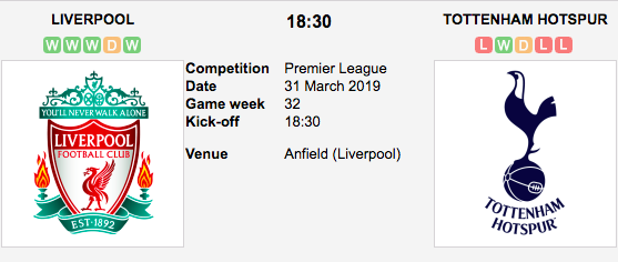 Liverpool v. Spurs - Premier League Preview & Tips
